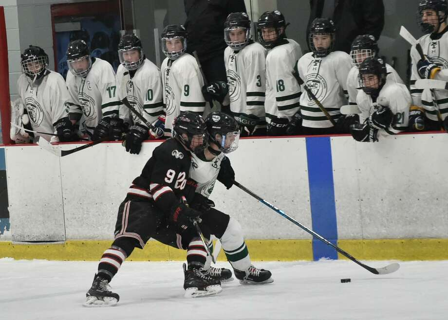 North Branford Connecticut - Saturday, March 9, 2019: Northwest Catholic H.S. vs. New Canaan H.S. during the CIAC Division 1 Boys Hockey Championship quarterfinal Saturday afternoon at the Northford H.S. Pavilion in Northford. Photo: Peter Hvizdak / Hearst Connecticut Media / New Haven Register