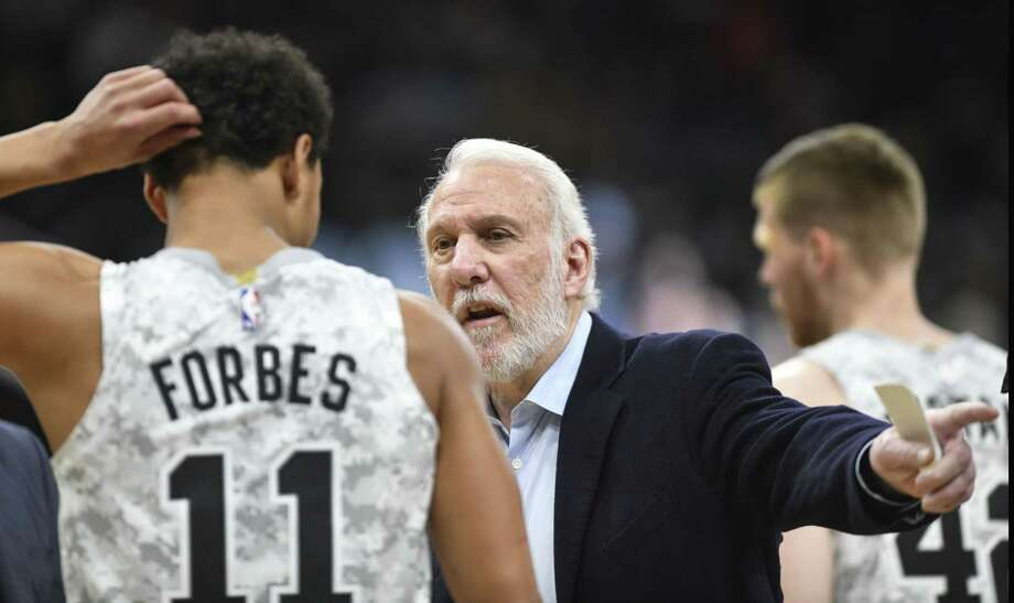 The Spurs have turned third-year guard Bryn Forbes from an undrafted free agent into a starter. Photo: Billy Calzada /Staff Photographer / San Antonio Express-News