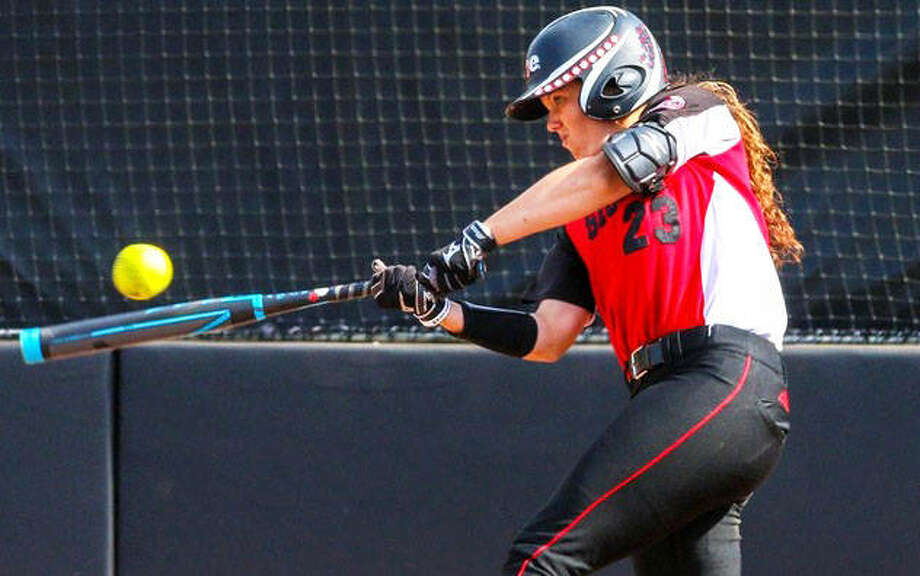 SIUE's Reagan Curtis hit two home runs Saturday in a victory over Hawaii in Honolulu. The win gave the Cougars a split on the opening day of their spring-break trip to Hawaii after opening with a loss to Cal.