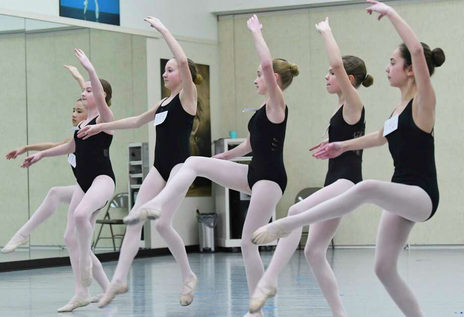 Children take part in auditions at The National Museum of Dance School of the Arts on Sunday, March 10, 2019, in Saratoga Springs, N.Y. The New York City Ballet held the auditions to find approximately 50 children to perform with the ballet during its Saratoga season, July 16 - 20. The children were auditioning for roles in Balanchine's Coppélia, which first premiered at SPAC, and Mozartiana, one of Balanchine's last works.     (Paul Buckowski/Times Union) Photo: Paul Buckowski, Albany Times Union / (Paul Buckowski/Times Union)