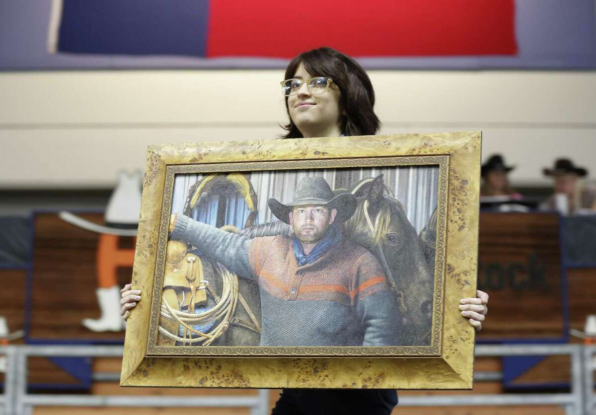 Melissa Sosa, 17, painting,