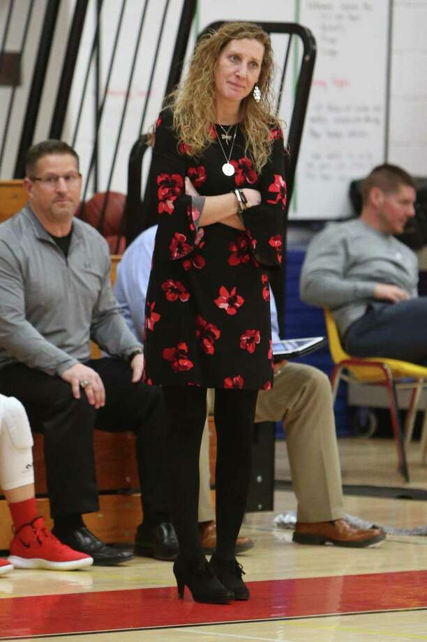 Coach Kelly Maher and the Cromwell girls basketball team will face Kolbe Cathedral on Monday in a Class M tournament semifinal. Photo: Emily J. Reynolds / For Hearst Connecticut Media / Connecticut Post Freelance
