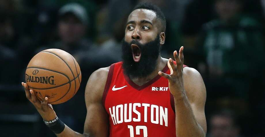 PHOTOS: Rockets game-by-game Houston Rockets' James Harden reacts after being called for a foul during the second half of an NBA basketball game against the Boston Celtics in Boston, Sunday, March 3, 2019. (AP Photo/Michael Dwyer) Browse through the photos to see how the Rockets have fared in each game this season. Photo: Michael Dwyer/Associated Press
