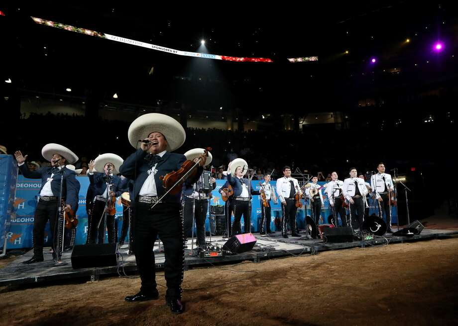 Mariachi Los Trovadores perform during a mariachi contest at the Houston Livestock Show and Rodeo Sunday, March 10, 2019, in Houston. Photo: Jon Shapley/Staff Photographer
