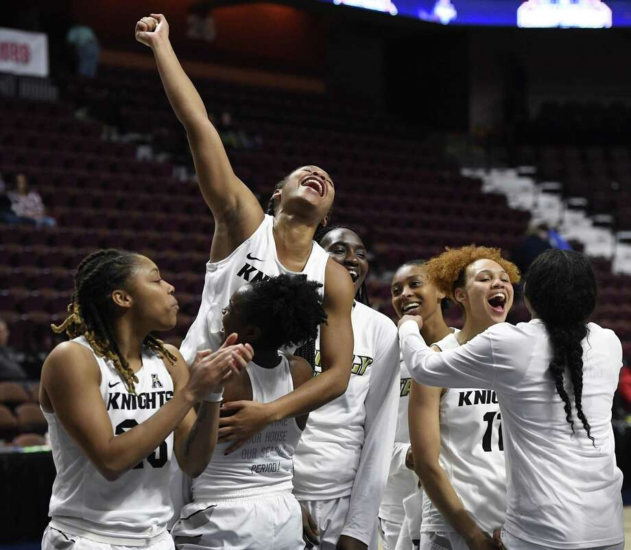 Central Florida will take on UConn in the AAC tournament championship game on Monday. Photo: Jessica Hill / Associated Press / Copyright 2019 The Associated Press. All rights reserved