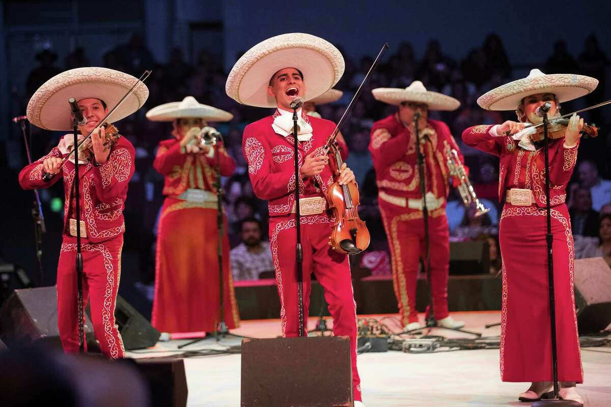 Mariachi Los Soberanos, of San Antonio, perform during the 2019 Houston Livestock Show and Rodeo Go Tejano Committee Mariachi Invitational Showcase on Saturday, March 9, 2019, in Houston.