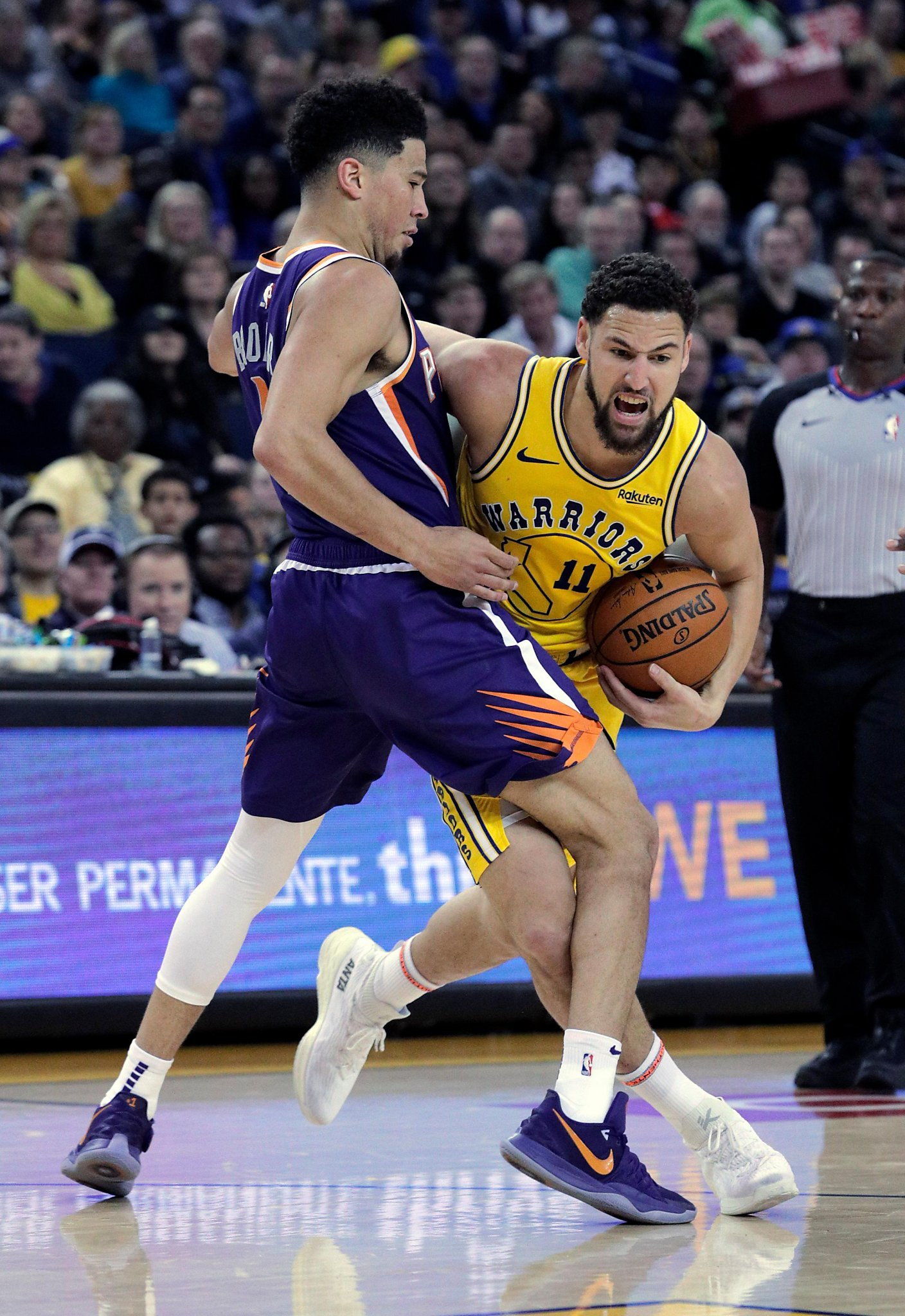 022a21e0e870  At least you could stand up   Klay Thompson calls out Warriors fans for  failing to bring energy
