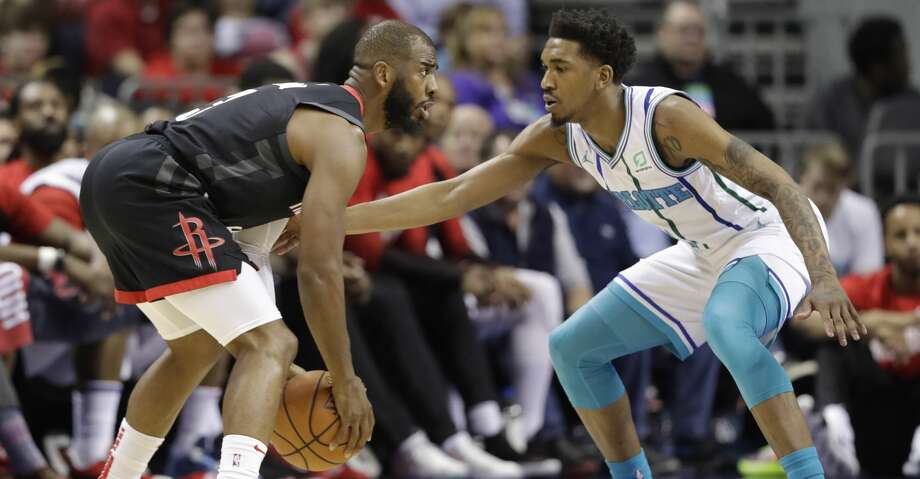 PHOTOS: Rockets game-by-game Houston Rockets' Chris Paul, left, drives against Charlotte Hornets' Malik Monk, right, during the first half of an NBA basketball game in Charlotte, N.C., Wednesday, Feb. 27, 2019. (AP Photo/Chuck Burton) Browse through the photos to see how the Rockets have fared in each game this season. Photo: Chuck Burton/Associated Press