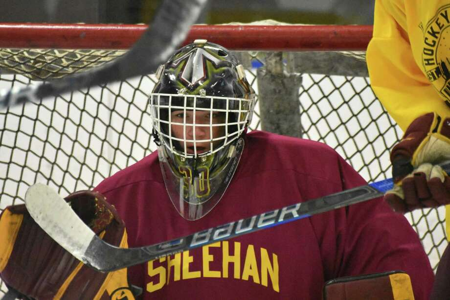 Sheehan High goalie Tyler Robertson Photo: Pete Paguaga / Pete Paguaga / Hearst Connecticut Media