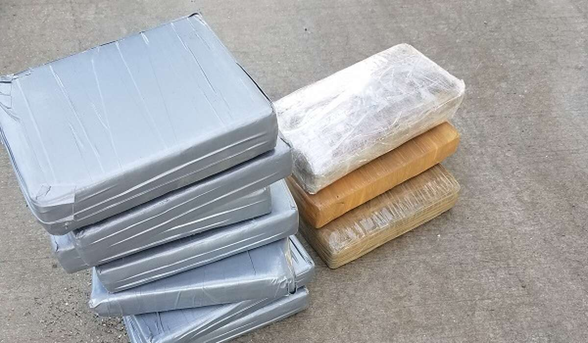 Agents searched a Freightliner and discovered 10 bundles containing 25 pounds of cocaine.