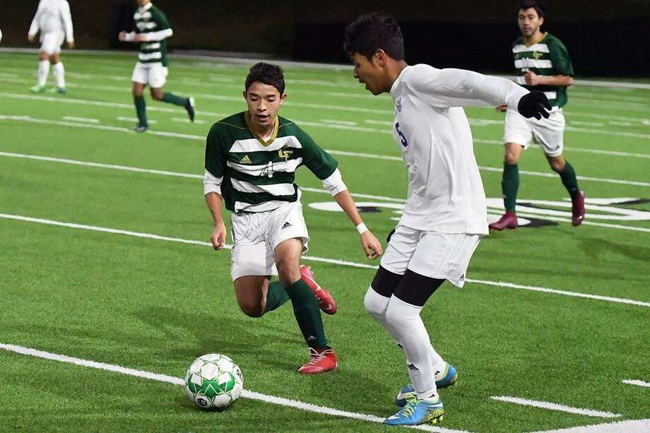 The Cy Falls boys soccer team is currently in second place in the District 17-6A standings behind Spring Woods. Photo: CFISD