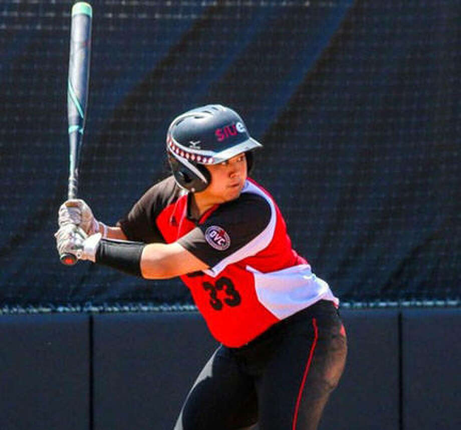 SIUE's Kalei Kaneshiro homered in her home state Sunday in Hawaii to help the Cougars to a victory over Utah. Photo: SIUE Athletics