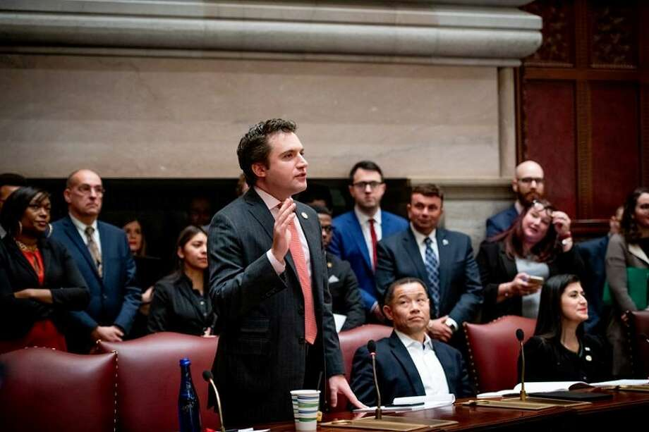 Sen. James Skoufis, an Orange County Democrat who leads the chamber's 