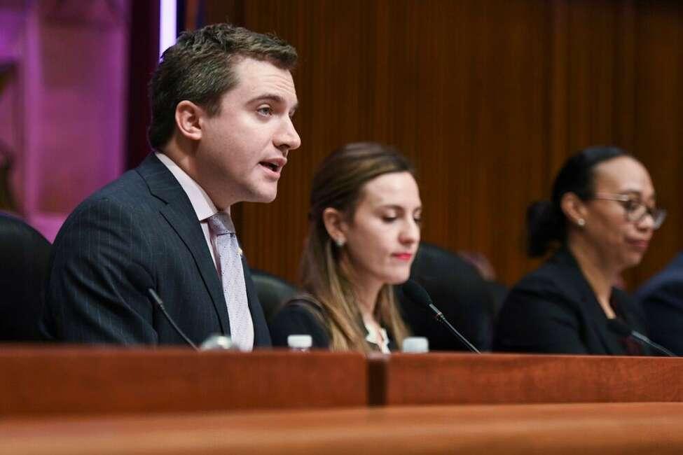 Sen. James Skoufis, an Orange County Democrat, in the Capitol