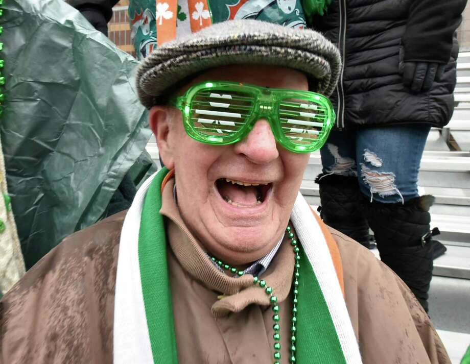 New Haven, Connecticut - Sunday, March 10, 2019: The St. PatrickÕs Day Parade on a rainy and chilly Sunday afternoon in New Haven. According to the St. Patrick's Day Parade of New Haven website, the parade tradition was born in New Haven on March 17, 1842, when about 90 members of the Hibernian Provident Society, a mutual aid organization formed the previous year, marched through the city streets behind a banner made especially for the occasion. Photo: Peter Hvizdak / Hearst Connecticut Media / New Haven Register