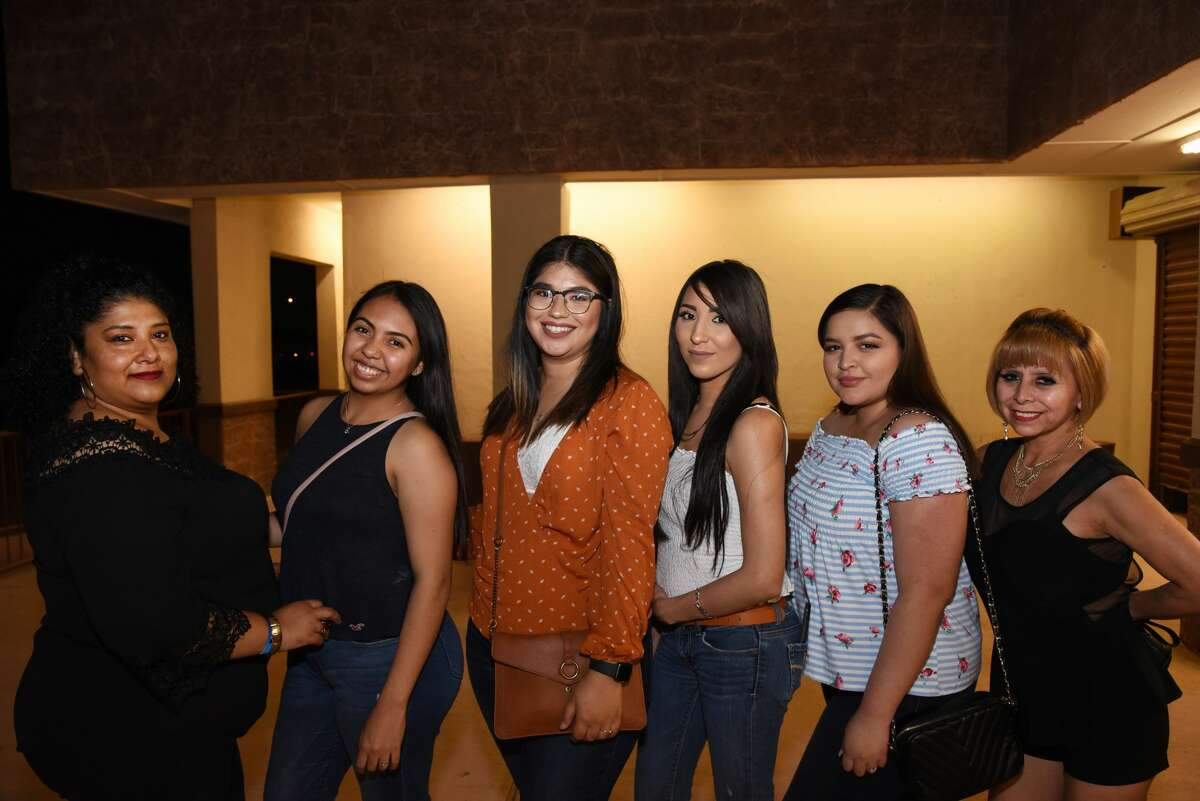 Isabel Pedrote, Cora Pedrote, Cecy Amaya, Natalie Villegas, Alejandra Vargas and Lulu Sanchez pose for a photo during the Magic Mike Tour.