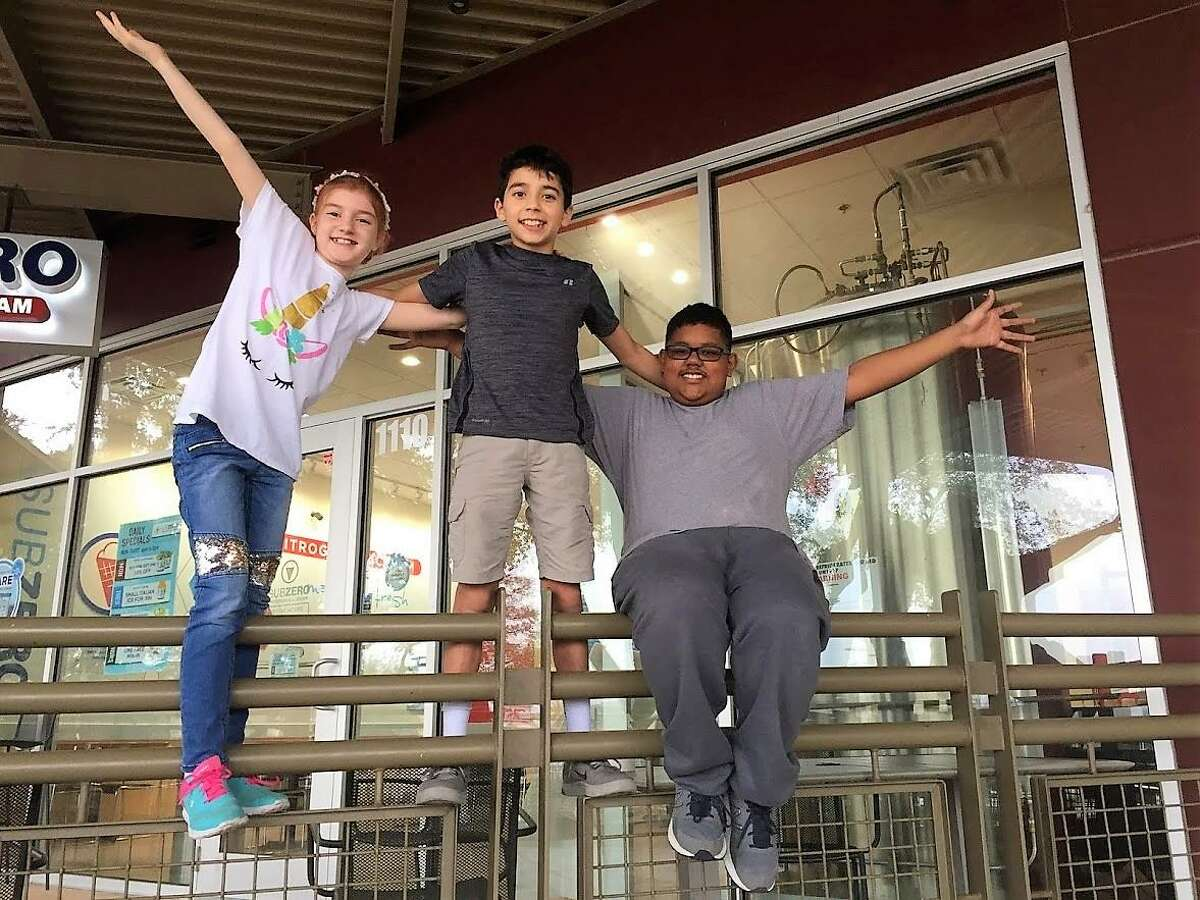 Since meeting on the Fox show, the four young S.A. chefs have become great friends. Here, three of them -- Neko, Thomas and Jayden -- ham it up for the camera.