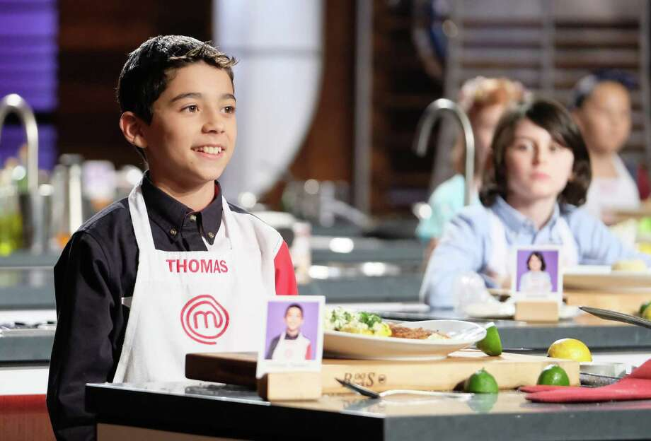 Thomas Reyna, seen on the 'MasterChef Junior' premiere, was proud of his chicken tenders and street corn. Photo: Fox
