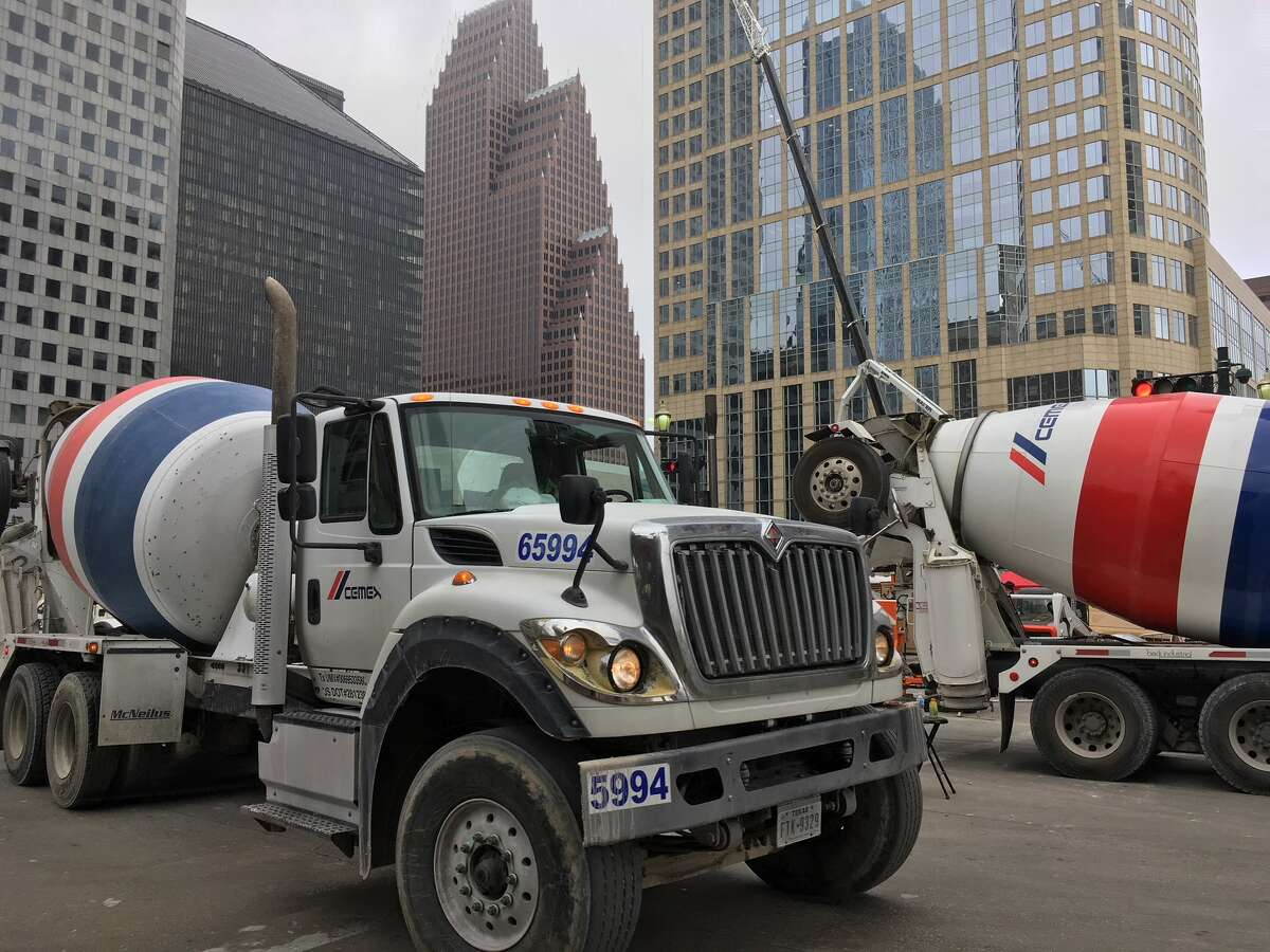 Cemex delivered 1,700 truckloads of concrete over the weekend for the mat foundation of Texas Tower in downtown Houston.