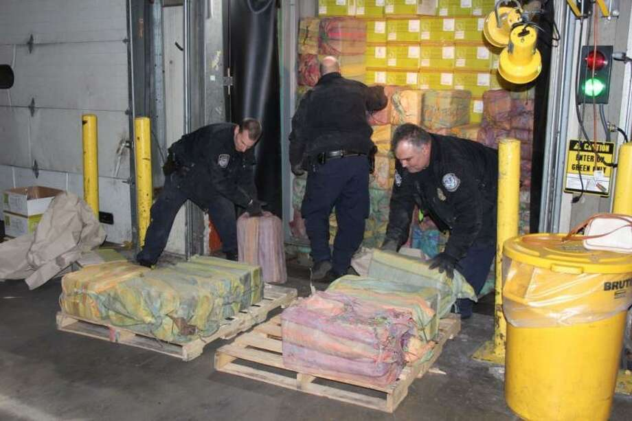 U.S. Customs and Border Protection says 3,200 pounds of the cocaine in 60 packages were seized at Port New York/Newark on Feb. 28. The street value is estimated at about $77 million. Photo: U.S. Customs And Border Protection