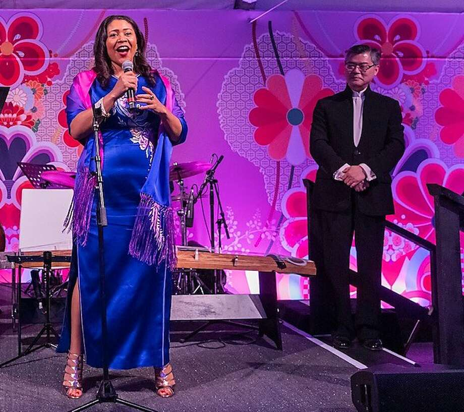 Mayor London Breed and museum director Jay Xu at Asian Art Museum gala Photo: Drew Altizer Photography