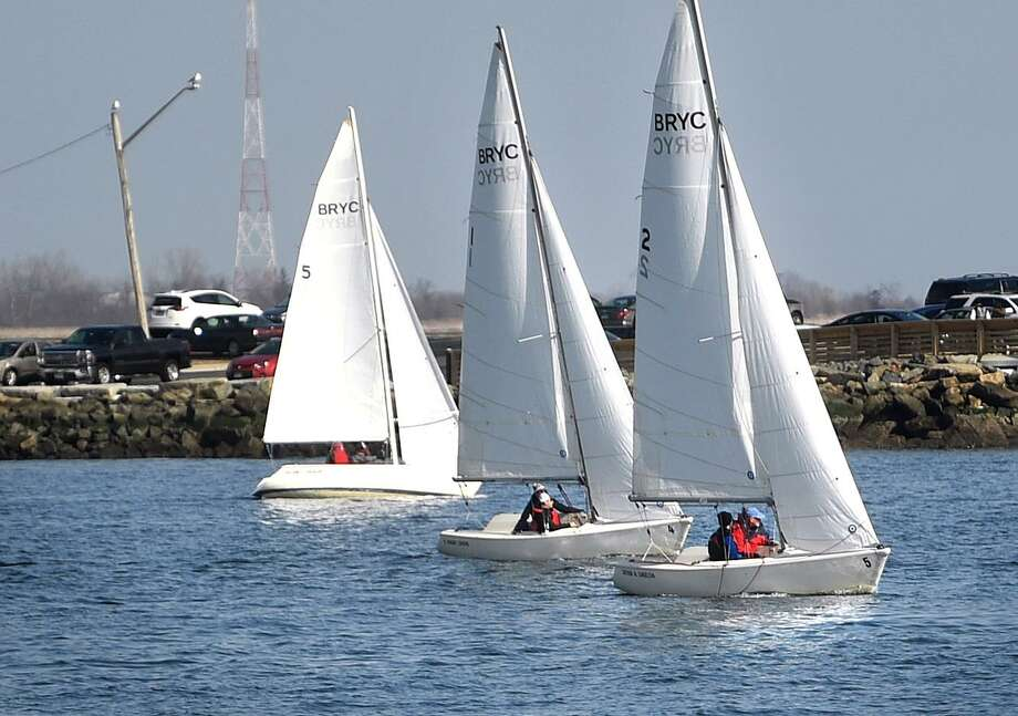 Sailboats from the Black Rock Yacht Club race on Black Rock Harbor off Seaside Park in Bridgeport, Conn. on Sunday, March 3, 2019. Photo: Brian A. Pounds / Hearst Connecticut Media / Connecticut Post