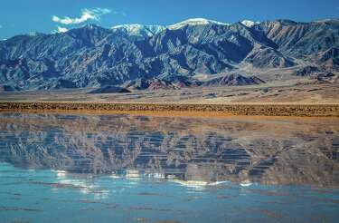 Rare 10-mile-long lake forms in Death Valley after heavy