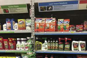 Stores are stocking up on the many lawn products that are needed this time of year.