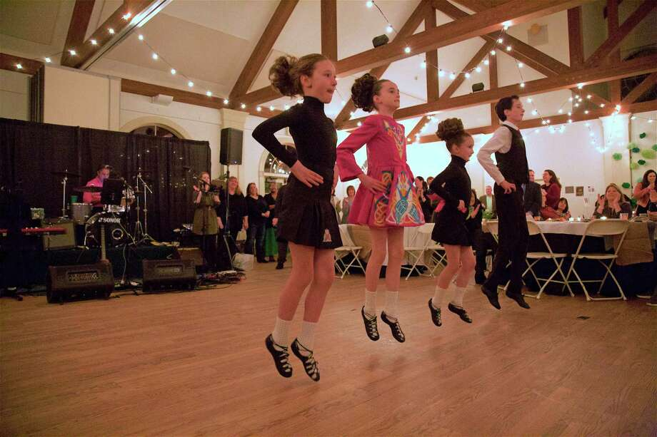 "The dancers were light on their feet at the St. Francis ""Eat, Drink & Be Irish"" fundraiser on Saturday, March 9, 2019, in Weston, Conn. Photo: Jarret Liotta / For Hearst Connecticut Media / Westport News Freelance"