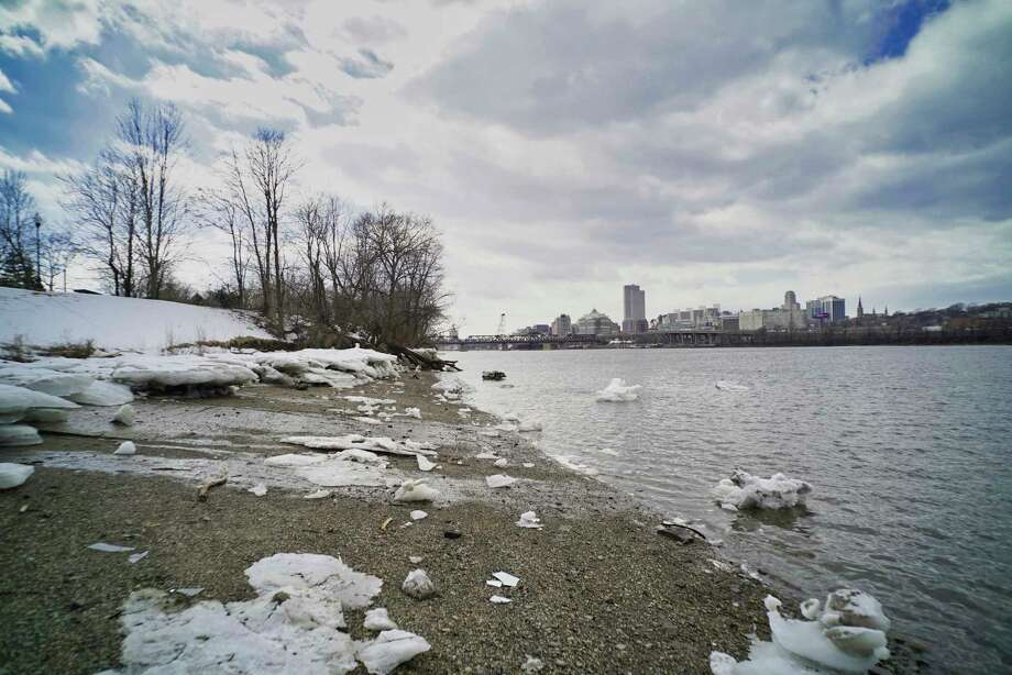 A view looking south of the Rensselaer waterfront near the boat launch off of Forbes Road on Monday, March 11, 2019, in Rensselaer, N.Y.  (Paul Buckowski/Times Union) Photo: Paul Buckowski, Albany Times Union / (Paul Buckowski/Times Union)