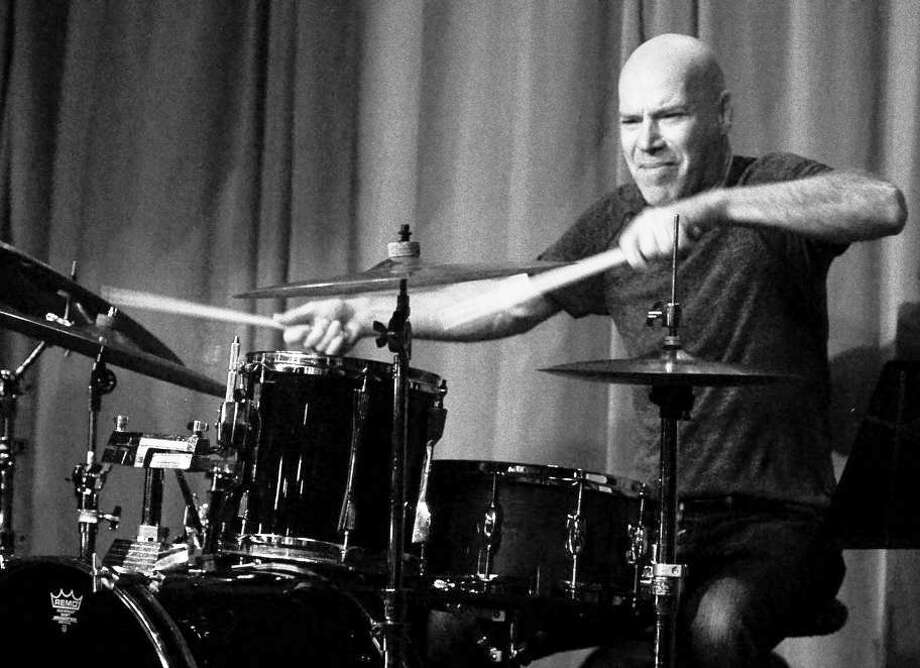 Blues legends Studebaker John (a slide guitarist and blues harpist)and Hartford-based drummer Liviu Pop (shown here) will play a show at The Buttonwood Tree in Middletown Tuesday night. Photo: Contributed Photo