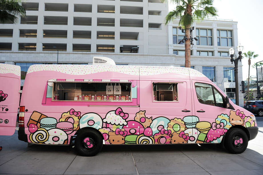 The Hello Kitty Cafe Truck will cruise through Laredo on Saturday at Mall Del Norte for fans to shop from a selection of collectibles and merchandise. Photo: Courtesy Hello Kitty Cafe