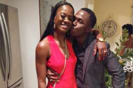 Andre McDonald kiss his wife, Andreen McDonald, during his 40th birthday party in February 2019. Andreen McDonald went missing Friday, March 1, and is presumed dead. Sheriff Javier Salazar said her husband is a suspect in her disappearance but he has only been charged with tampering with evidence. He is in jail under $2 million bail. The search for his wife's body is expected to continue Tuesday, March 5.