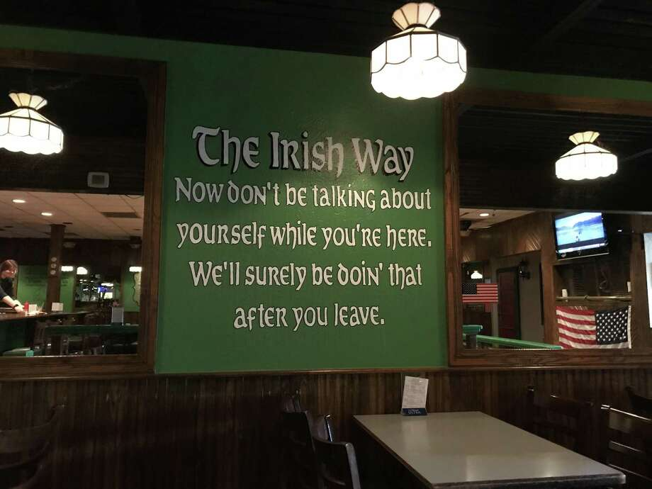 A sigin welcomes customers at MacKensie's iin Pub Beaumont. Photo: Syd Kearney