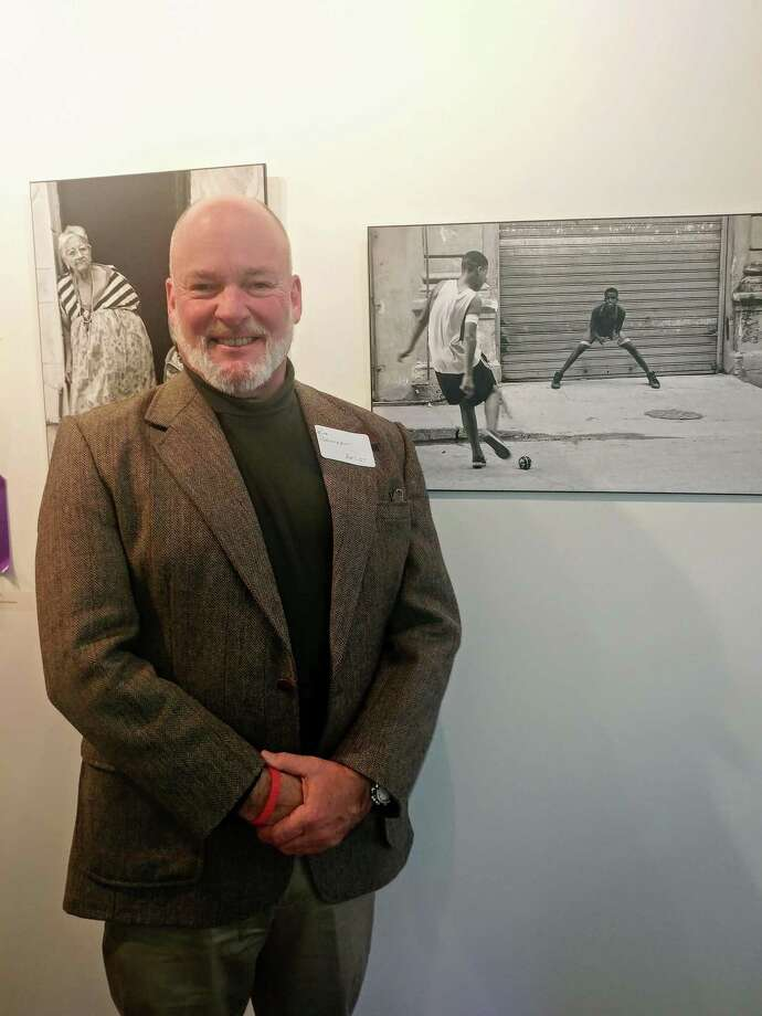 "Rick Bannerot IV by his work ""The Moment"" — Third Place, Black & White Photography Photo: RAC / Contributed Photo"
