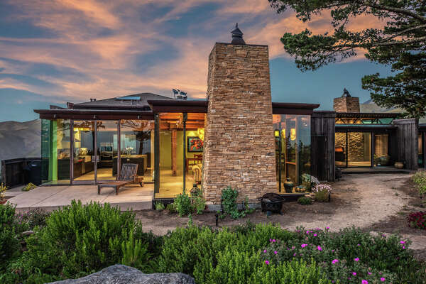Only 10 miles south of Carmel, Calif. on the craggy Big Sur coastline, a home designed by Micky Muennig of Post Ranch Inn Fame is listed for $7.73 million.