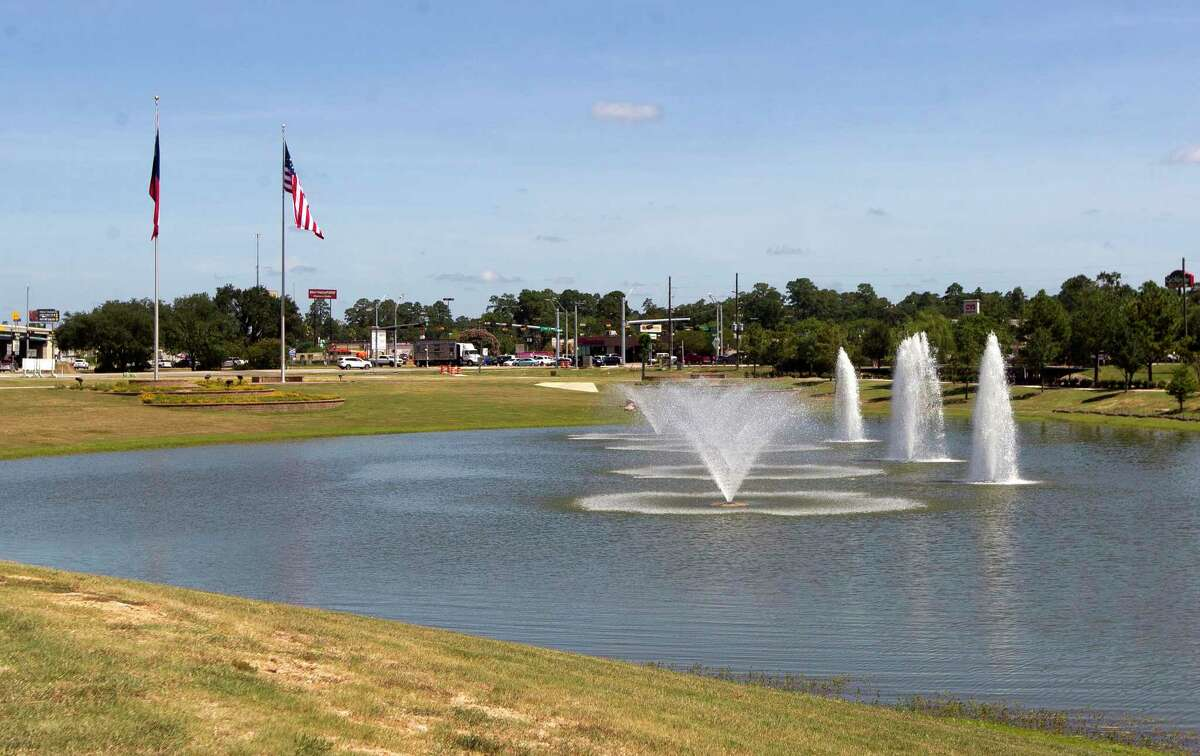 The city is replacing the irrigation system at Interstate 45 and Texas 105 due to damage from construction of the new Montgomery County Veterans Memorial.