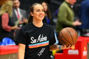 LOS ANGELES, CA - DECEMBER 29: San Antonio Spurs assistant coach Becky Hammon looks on before a NBA game between the San Antonio Spurs and the Los Angeles Clippers on December 29, 2018 at STAPLES Center in Los Angeles, CA. (Photo by Brian Rothmuller/Icon Sportswire via Getty Images)