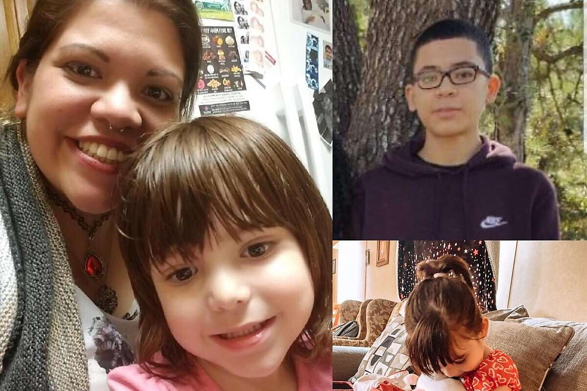 Donna Pena, 31, was fatally shot on Friday, March 8 by two men at the Shell gas station she worked at as a clerk. This picture taken from the GoFundMe page her family started to raise money for her memorial shows Pena with her two children.