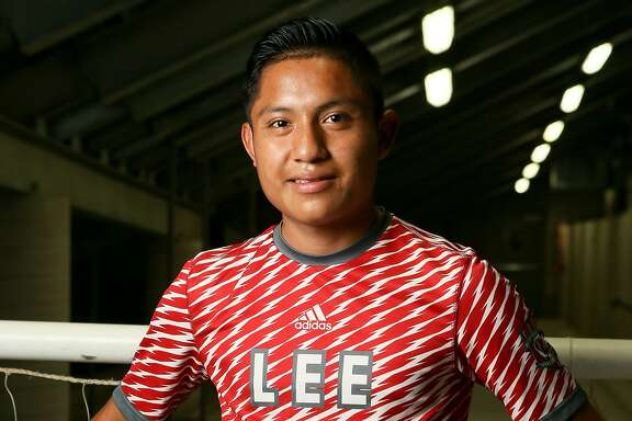 Wilmar Aguilar, Lee midfielder, posing at Toyota Field on Wednesday, May 2, 2018, is a member of the 2018 Express-News All-Area Boys Soccer Team. MARVIN PFEIFFER/mpfeiffer@express-news.net