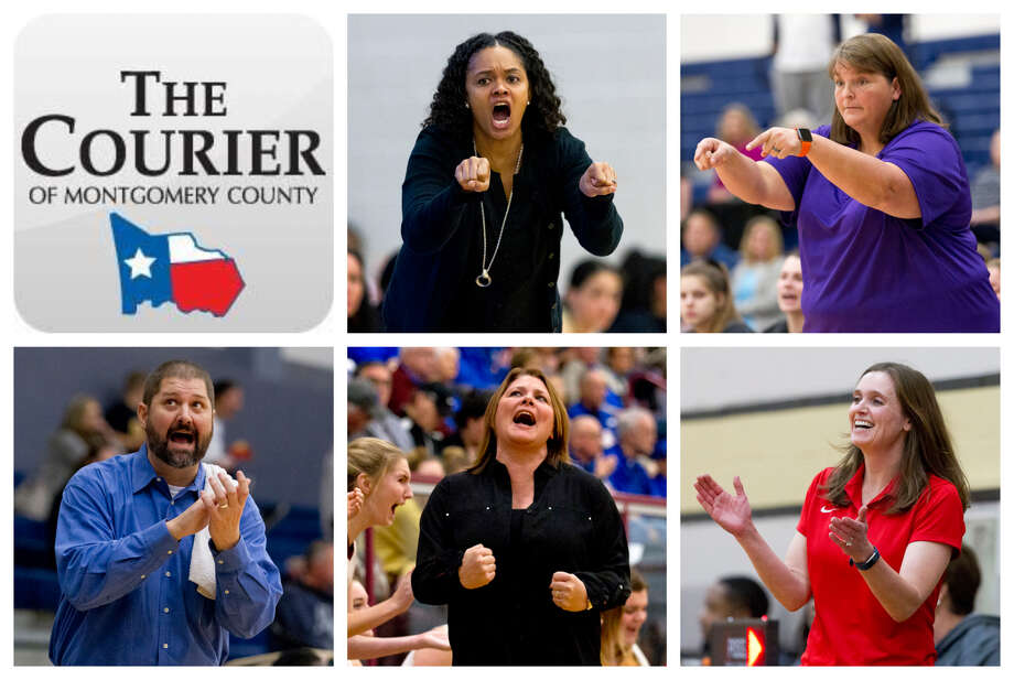 Conroe's Tamisha Houston, Willis' Angel Kelley, College Park's Jason Weese, Magnolia West's Sarah Simmons and Oak Ridge's Deidre Vasquez are The Courier's nominees for Coach of the Year. Photo: Staff Photos