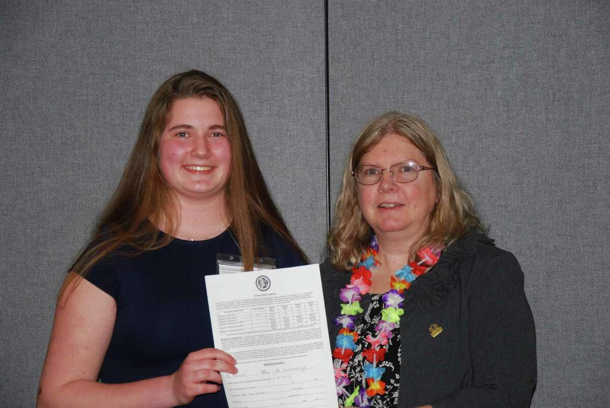 GHS sophomore Hannah Goldenberg came in second of 12 students who gave Ted Talk-style presentations of their science projects over the weekend at the Connecticut Junior Science and Humanities Symposium. She will compete at the national symposium this April in Albuquerque with her research on the harmful effects of e-cigarettes.