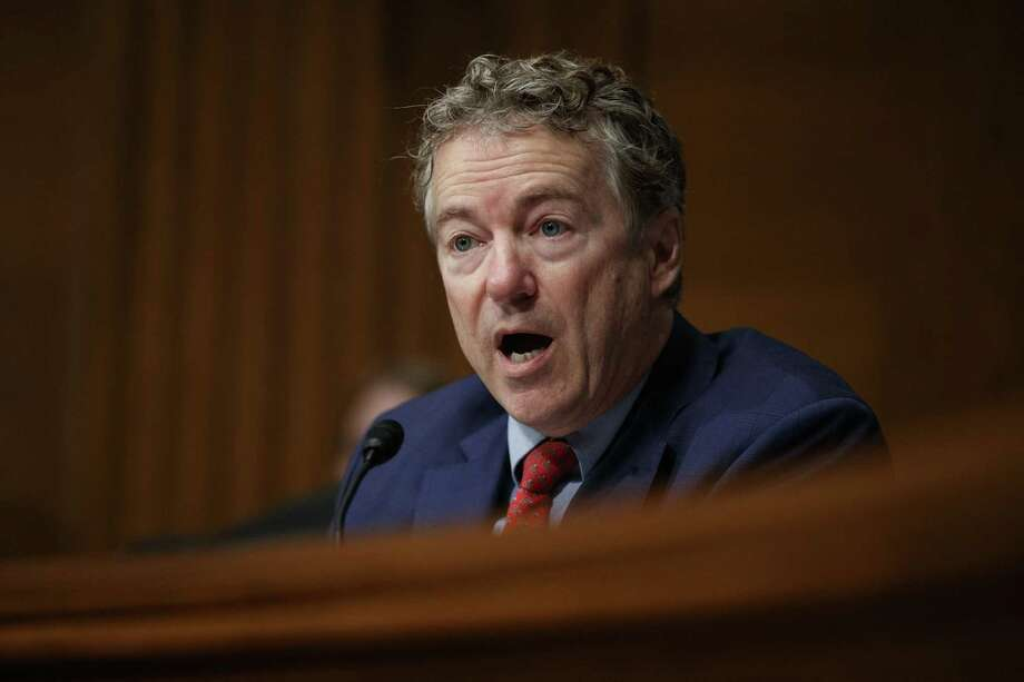 """Sen. Rand Paul, R-Ky., said this about vaccinations: """"I still do not favor giving up on liberty for a false sense of security."""" That """"false sense of security"""" is actually herd immunity. That's one of the errors he is promoting. Photo: Carolyn Kaster / Associated Press / Copyright 2019 The Associated Press. All rights reserved."""