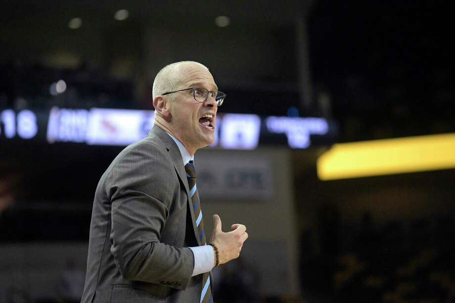 UConn coach Dan Hurley reacts on the sideline during the second half of an a game against Central Florida Thursday, Jan. 31, 2019 in Orlando, Fla. Photo: Phelan M. Ebenhack / Associated Press / Copyright 2019 The Associated Press. All rights reserved