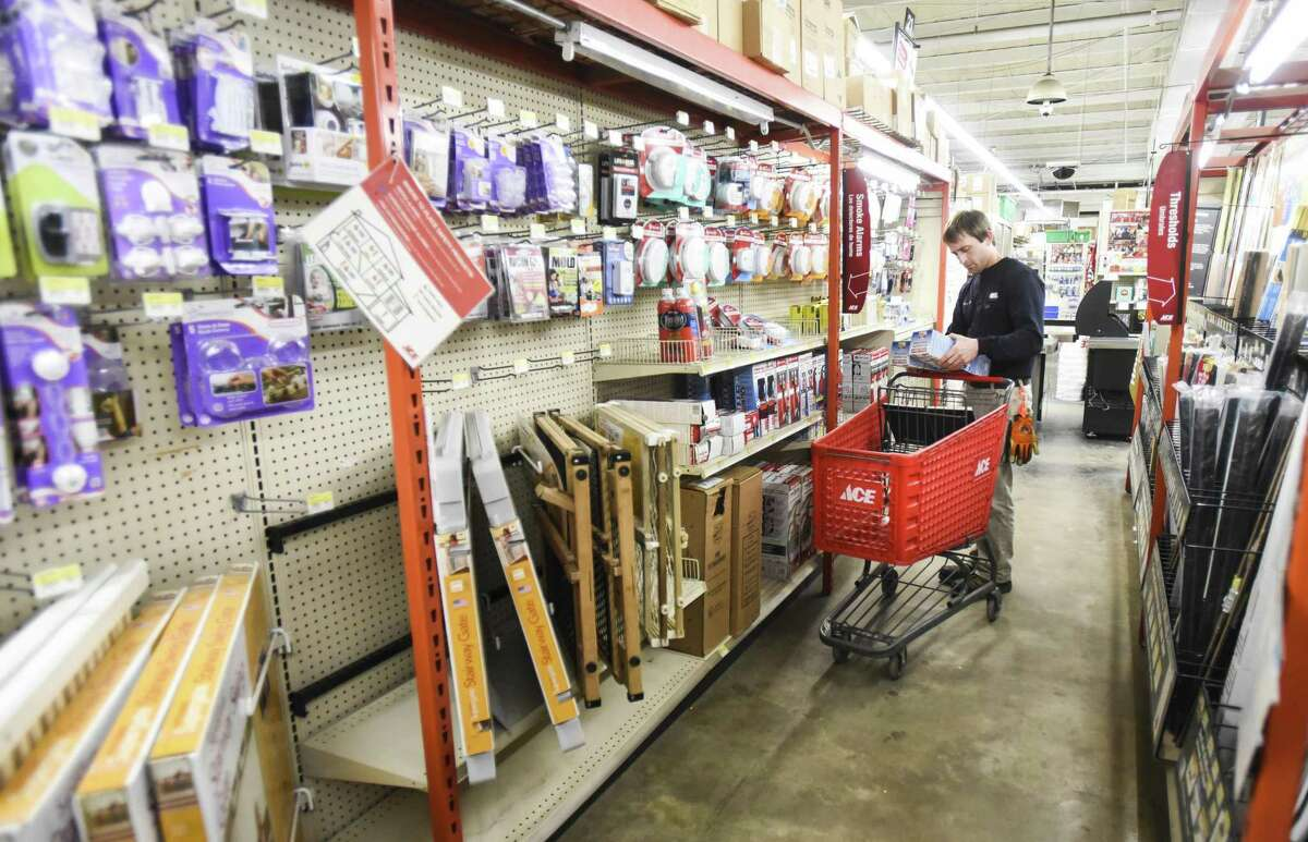 Nolan Hall shops at M&D Supply - Ace Hardware in Beaumont on Monday. Photo taken on Monday, 03/11/19. Ryan Welch/The Enterprise