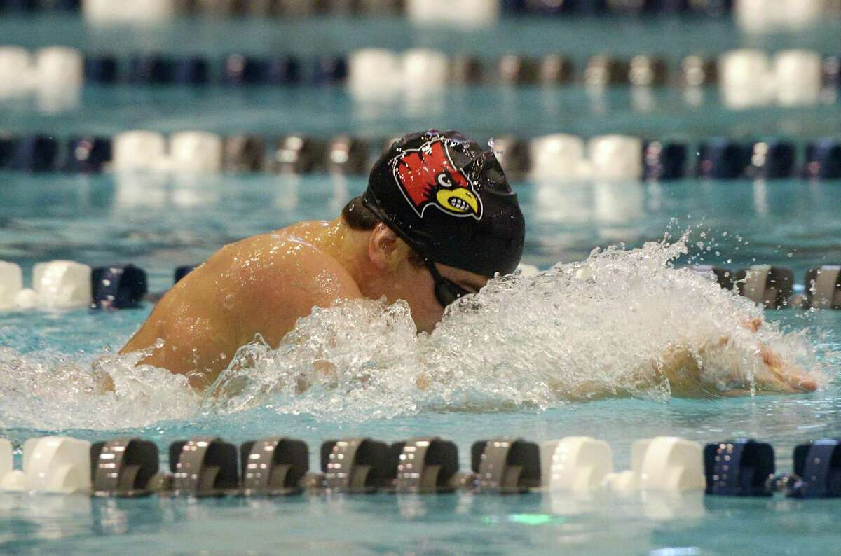 Greenwich's Stephan Todorovic swims to a first place finish in the 200 yard IM final during the CIAC Boys Class LL Swim Championships at Southern Connecticut State University's Hutchinson Natatorium in New Haven, Conn. Monday, March 11, 2019. Greenwich won the event overall with a score of 911, with Ridgefield taking second and Fairfield Prep third.