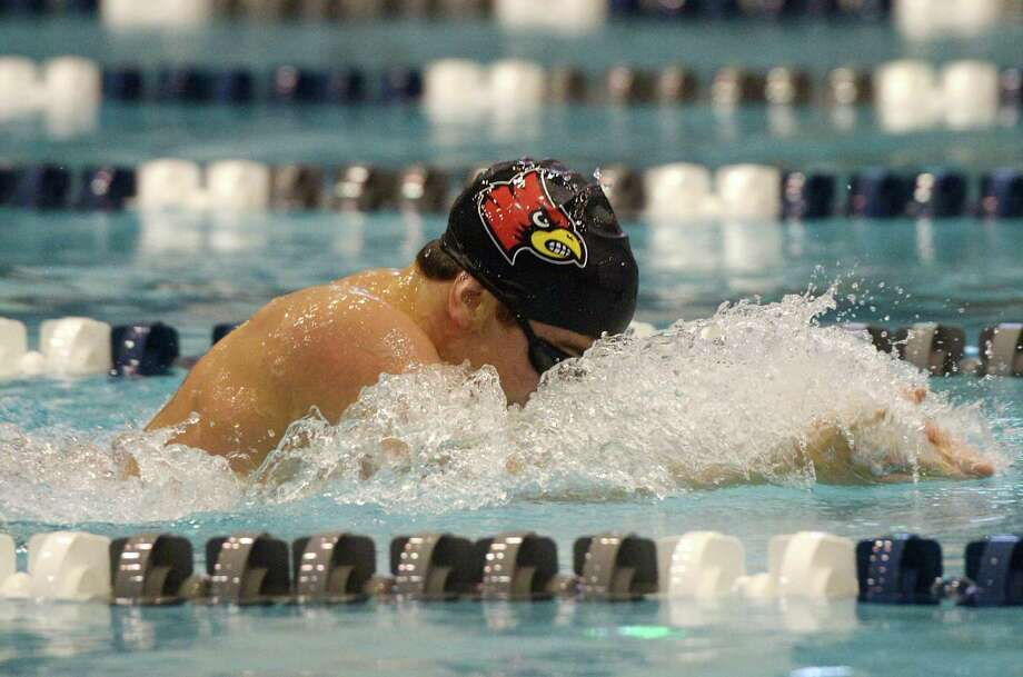Greenwich's Stephan Todorovic swims to a first place finish in the 200 yard IM final during the CIAC Boys Class LL Swim Championships at Southern Connecticut State University's Hutchinson Natatorium in New Haven, Conn. Monday, March 11, 2019. Greenwich won the event overall with a score of 911, with Ridgefield taking second and Fairfield Prep third. Photo: Tyler Sizemore / Hearst Connecticut Media / Greenwich Time