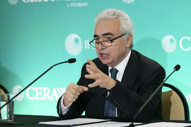 Fatih Birol, executive director of the International Energy Agency (IEA), speaks during the 2019 CERAWeek by IHS Markit conference in Houston, Texas, U.S., on Monday, March 11, 2019. The program provides comprehensive insight into the global and regional energy future by addressing key issues from markets and geopolitics to technology, project costs, energy and the environment, finance, operational excellence and cyber risks. Photographer: F. Carter Smith/Bloomberg