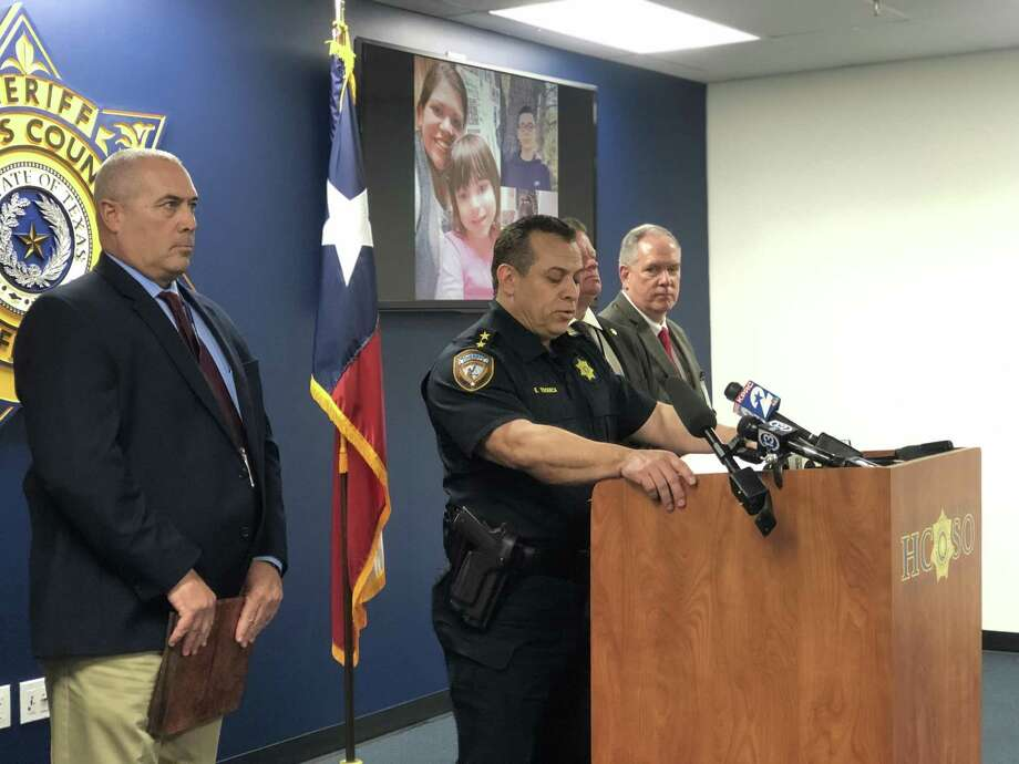 Harris County Sheriff Deputy Chief Edison Toquica said at a press conference on March 11 that catching the two suspects who killed Donna Pena at the gas station she worked at on March 8 is law enforcement's top priority. Photo: Massarah Mikati / Houston Chronicle