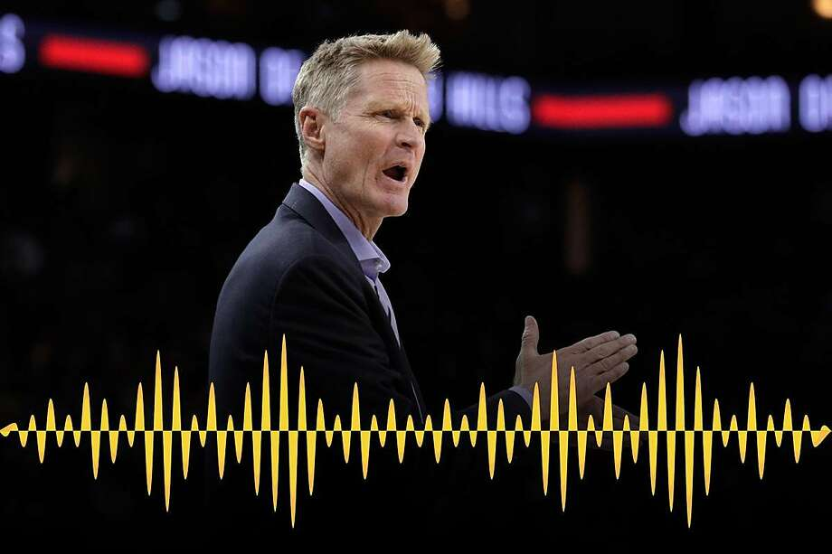 Head coach Steve Kerr reacts toward a referee in the second half as the Golden State Warriors play the Toronto Raptors at Oracle Arena in Oakland, Calif., on Wednesday, December 12, 2018. Photo: Carlos Avila Gonzalez / The Chronicle